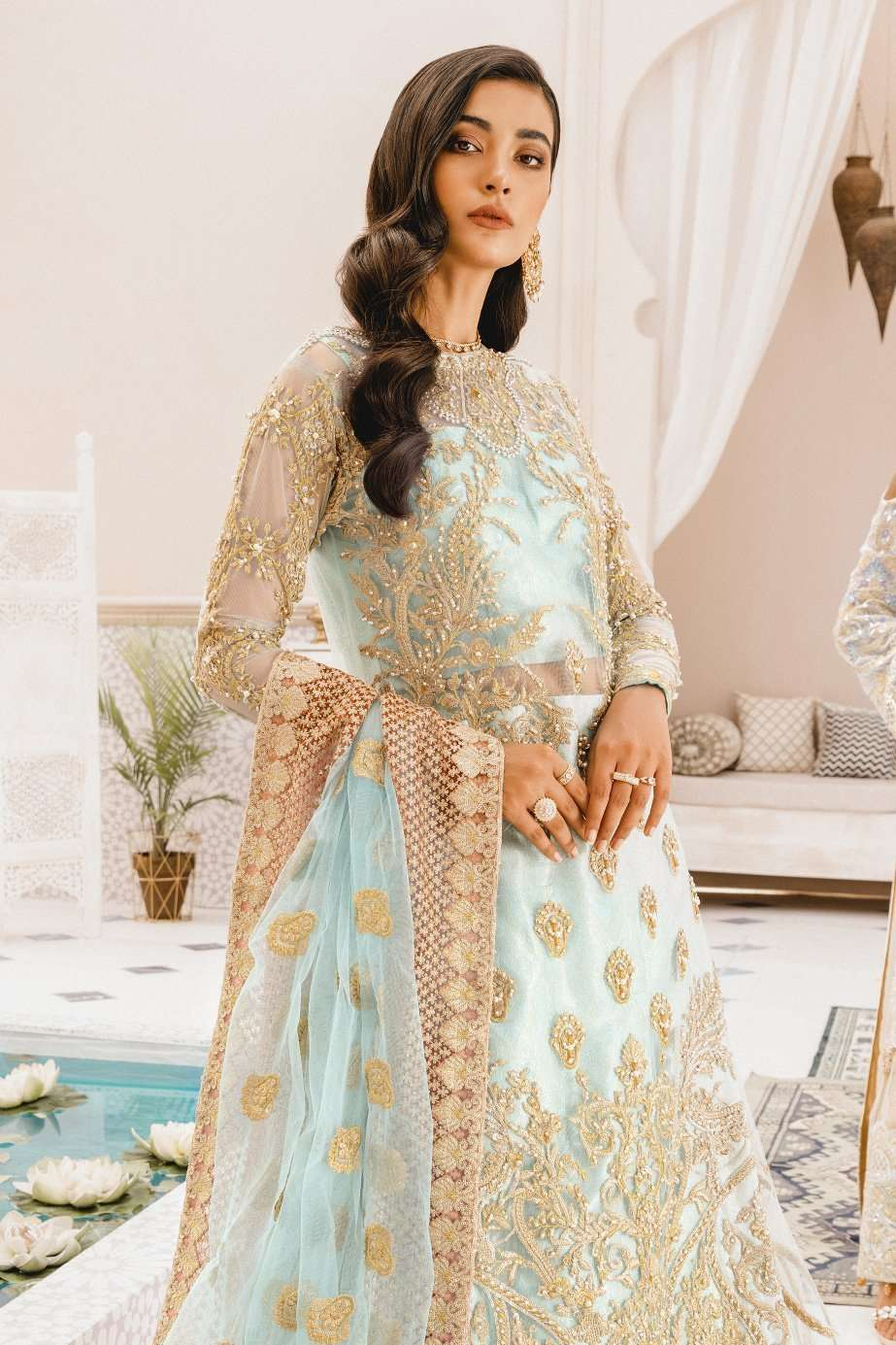 Ladies Un-Stitch Chiffon Collection Blue Age(MX-02)