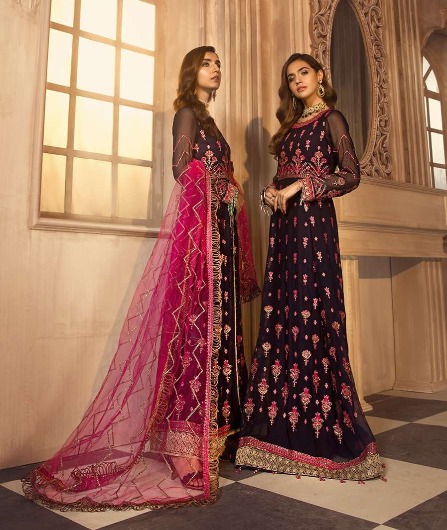 Ladies Un-Stitch Zarif Noor E Rang Chiffon Collection (Mahjabeen)