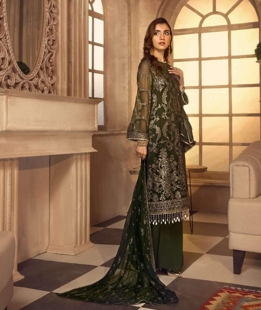 Ladies Un-Stitch Zarif Noor E Rang Chiffon Collection (Nehal)
