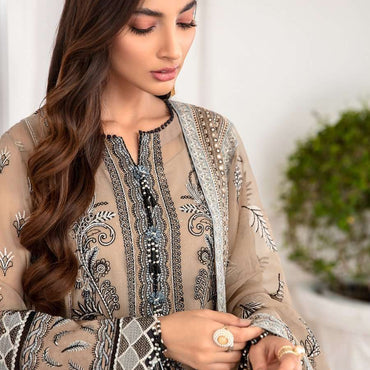 Ladies Un-Stitch Mahpare Luxury Chiffon Collection 07-Nirush