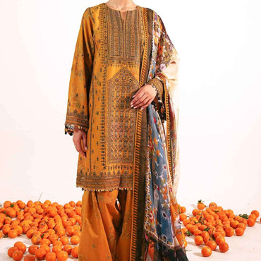 Ladies Un-Stitch Embroidered Lawn 2021 (SHIREEN-B)