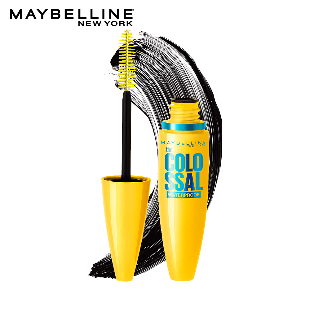 Maybelline Volume Express Colossal Masacara, Waterproof, Black, 10 ml