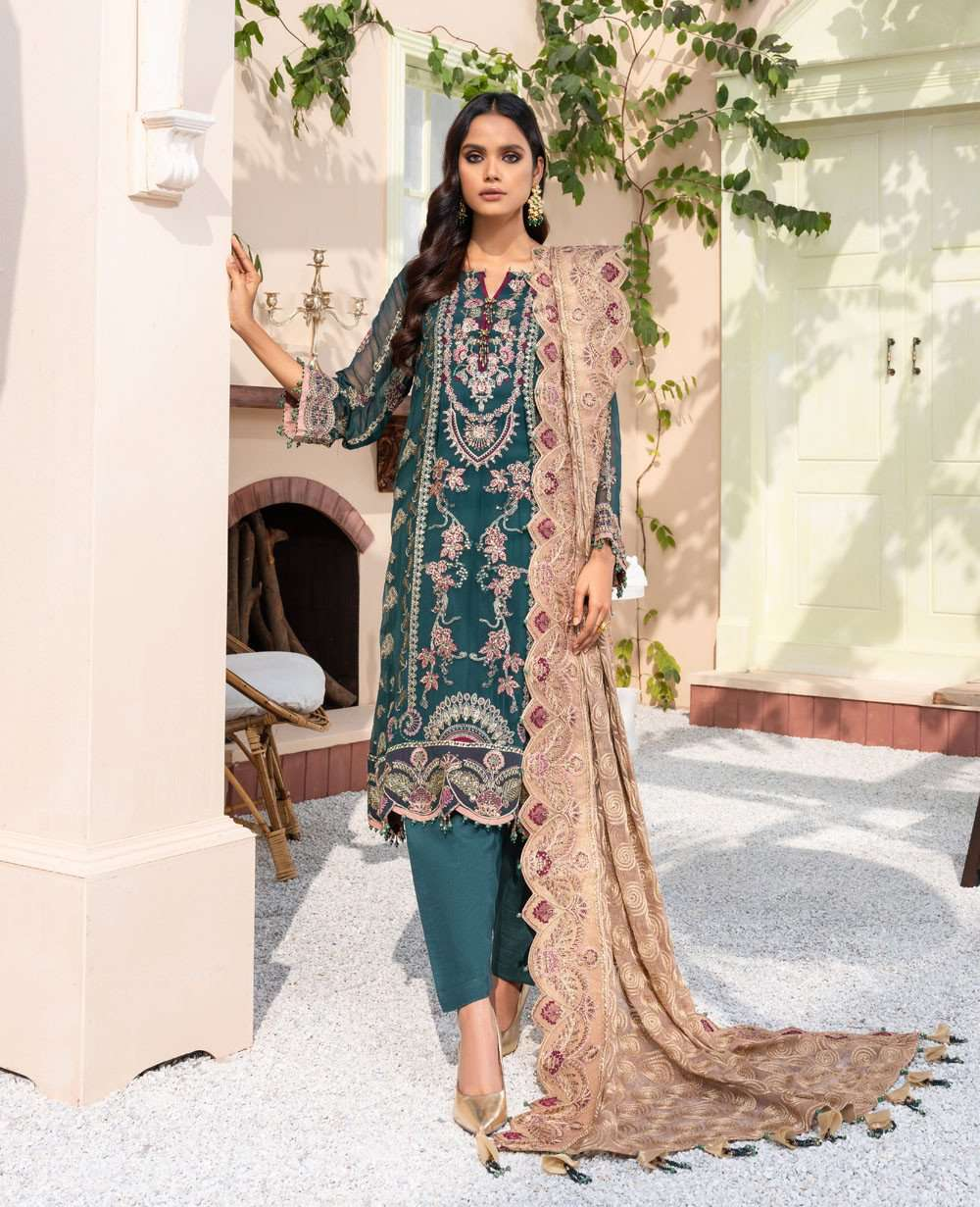 Ladies Un-Stitch Dareechay by Xenia Formals Embroidered Chiffon 09 BABUSHKA
