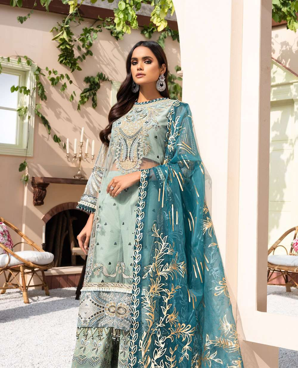 Ladies Un-Stitch Dareechay by Xenia Formals Embroidered Chiffon 04 MAHTAB