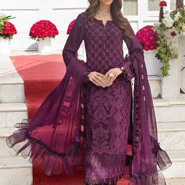 Ladies Un-Stitch Salitex Embroidered Chiffon Collection (HC-00003)
