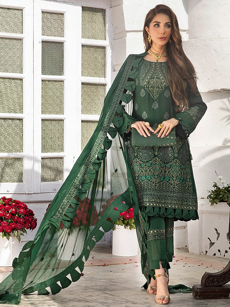 Ladies Un-Stitch Salitex Embroidered Chiffon Collection (HC-00005)
