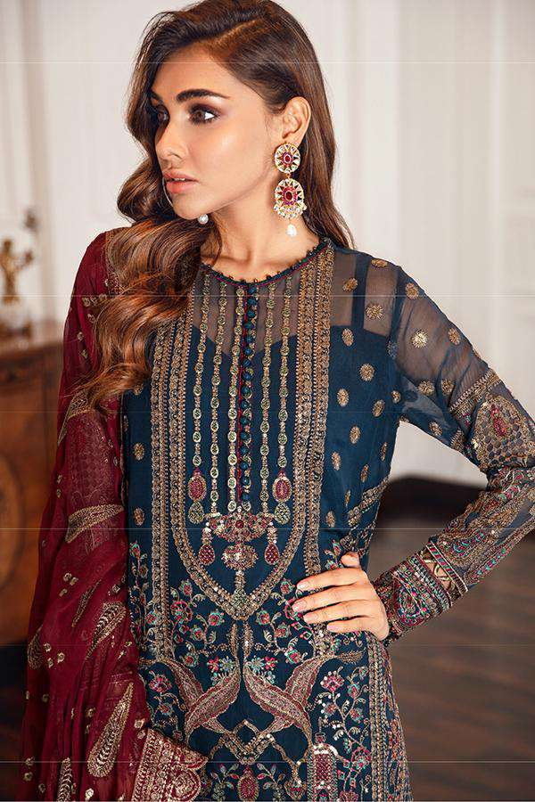 Ladies Un-Stitch Embroidered Chiffon Eid Festive (02-PALAIS)
