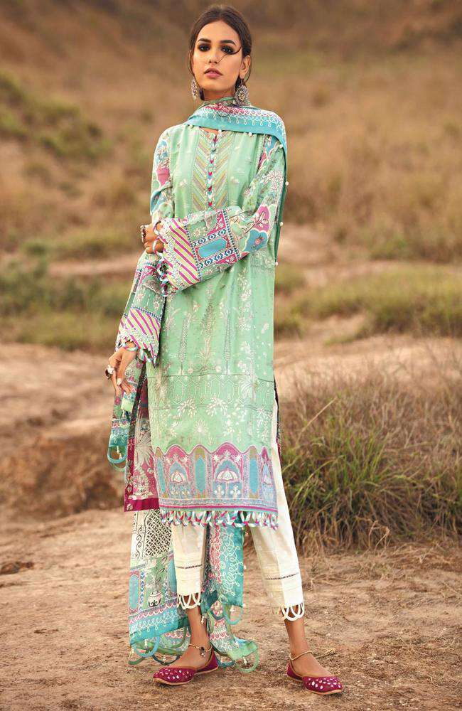 Ladies Un-Stitch Karvaan Luxury Lawn by Jazmin (QABAIL)