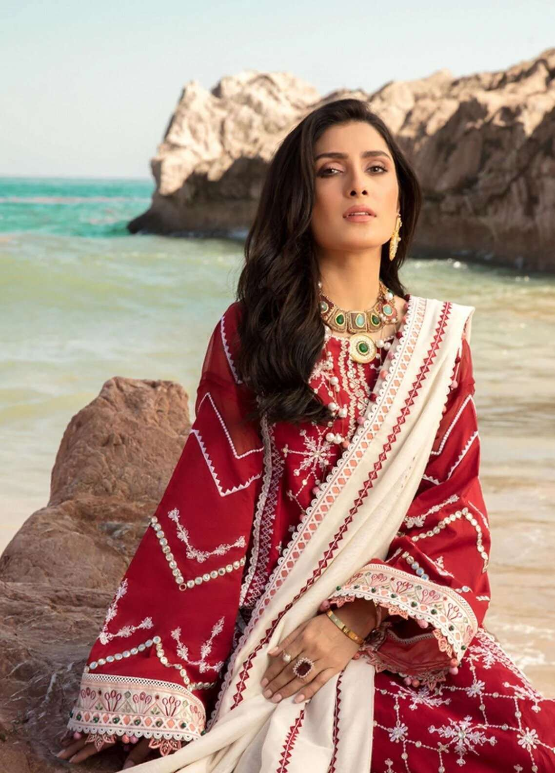 Ladies Un-Stitch Noor By Sadia Asad Luxury Lawn D12-B