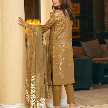 Ladies Un-Stitch Eid Luxury Lawn OZNUR Vol-2 (WK-00677B)