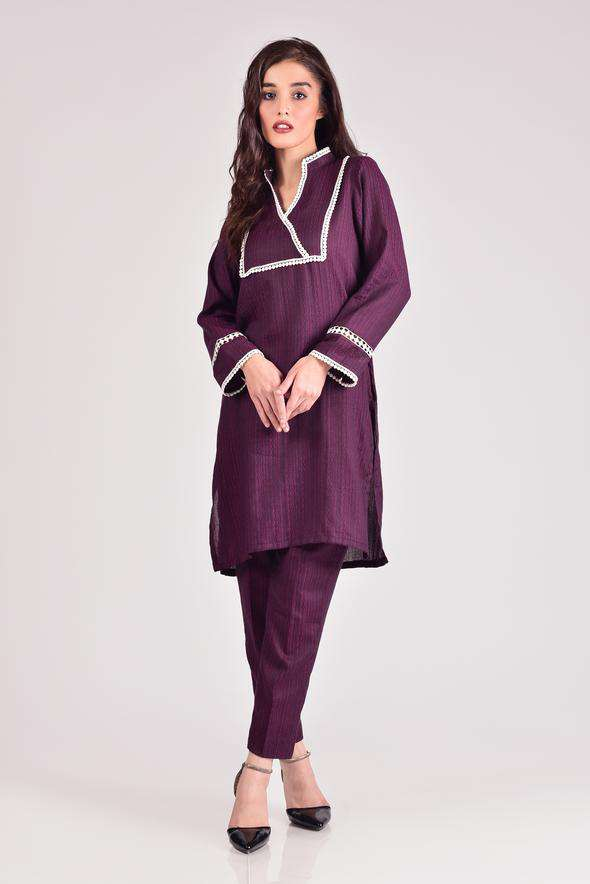 Mosaic - 2 Piece Ready To Wear Suit - Cotton Jacquard
