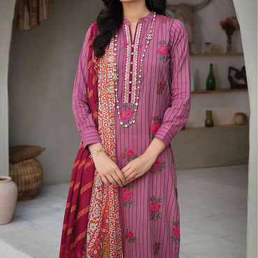 Ladies Un-Stitch RajBari Embroidered Lawn Voil Edit '21 (6B)