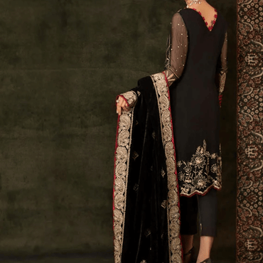 Ladies Un-Stitch Embroidered Elmas Velvet Collection By Sifona ECV-07 Regal Beauty