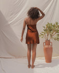 ELYSIAN SLIP DRESS IN GARNET