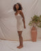 ELYSIAN SLIP DRESS IN PEARL