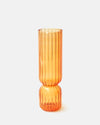 TWO TIER VASE IN TANGERINE