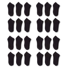 Load image into Gallery viewer, 150 Pairs Men's Ankle No Show Socks - Polyester and Spandex - Bulk Wholesale (10-13, Black)