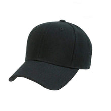 Load image into Gallery viewer, Plain Unisex Baseball Cap - Blank Hat with Solid Color and for Men and Women - Max Comfort (1 Unit, Black)