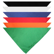 Load image into Gallery viewer, Mechaly Triangle Plain Bandanas - 6 Pack - Kerchiefs and Head Scarf (Black)