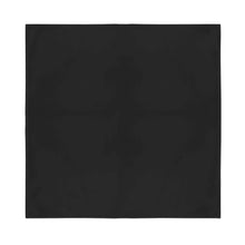 Load image into Gallery viewer, 9 Extra Large Cotton Plain Bandanas 27 x 27 Inches - Party and Decoration - Bulk (Black)