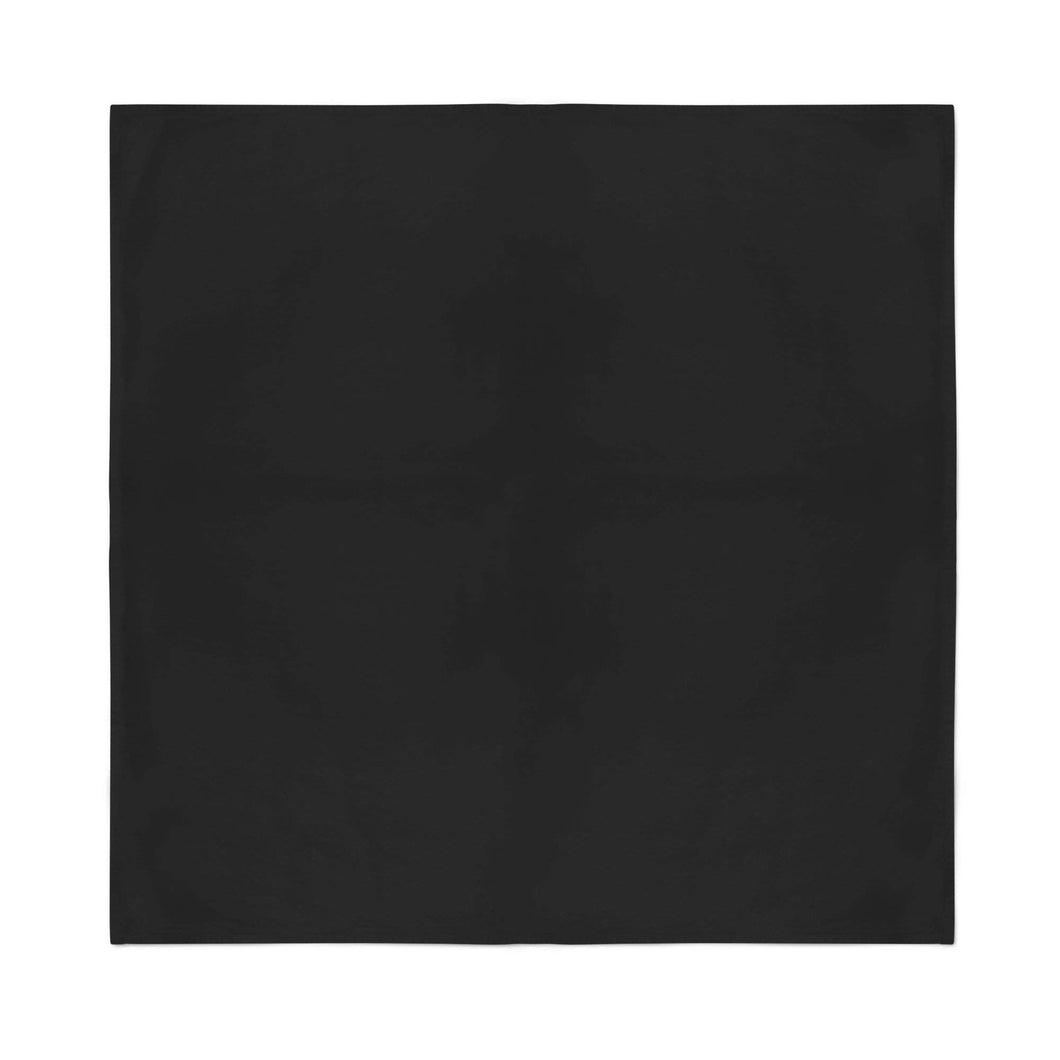 9 Extra Large Cotton Plain Bandanas 27 x 27 Inches - Party and Decoration - Bulk (Black)