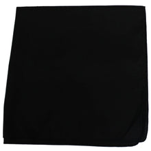 Load image into Gallery viewer, Unibasic Solid colors Polyester Bandana, head wrap, handkerchief (Black) - 26 Pack