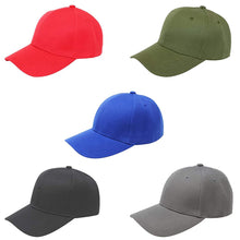 Load image into Gallery viewer, Pack of 5 Mechaly Plain Baseball Cap Hat Adjustable Back (Black)
