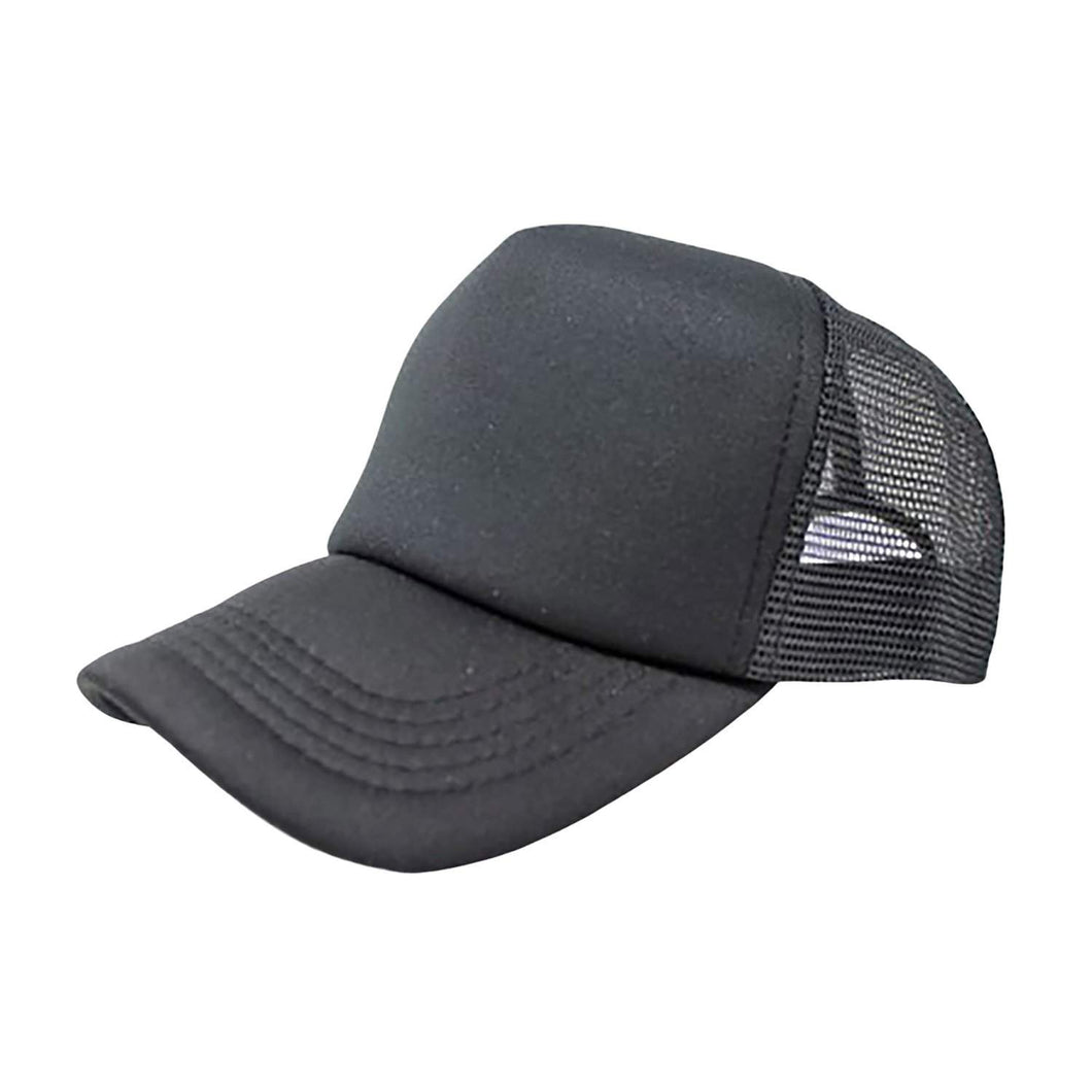 Pack of 4 Trucker Hat Cap - Bulk Wholesale by (Black)