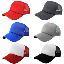 Load image into Gallery viewer, Pack of 4 Trucker Hat Cap - Bulk Wholesale by (Black)