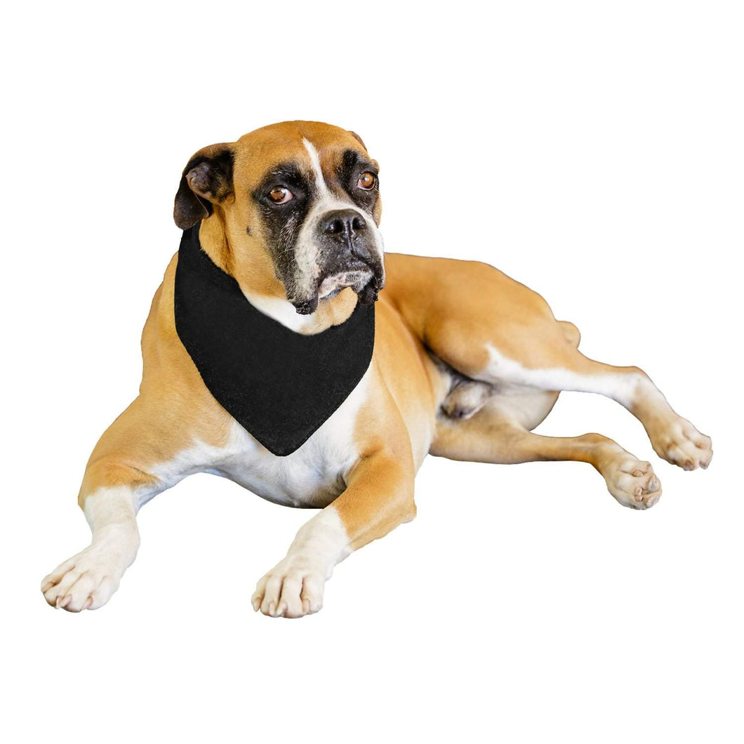 Mechaly 6 Pack Solid Polyester Dog Neckerchief Triangle Bibs  - Extra Large (Black)