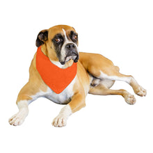 Load image into Gallery viewer, Mechaly 6 Pack Solid Polyester Dog Neckerchief Triangle Bibs  - Extra Large (Black)