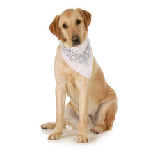 Load image into Gallery viewer, 5-Pack Paisley Cotton Dog Scarf Triangle Bibs  - XL and Washable (Black)