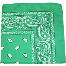 Load image into Gallery viewer, Set of 60 Mechaly Paisley Cotton Bandanas - 60 Pack (Black)