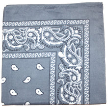 Load image into Gallery viewer, Mechaly Paisley 100% Cotton Bandanas (Black)