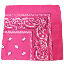 Load image into Gallery viewer, Qratfsy Polyester Breathable Sheer Stylish Bandana - Paisley and Solid Colors (Paisley Black)