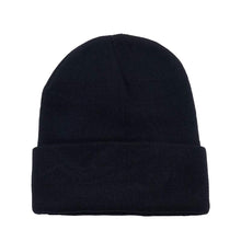 Load image into Gallery viewer, Pack of 15 Long Cuffed Men's and Women's Beanies Skullies in Bulk (Black)