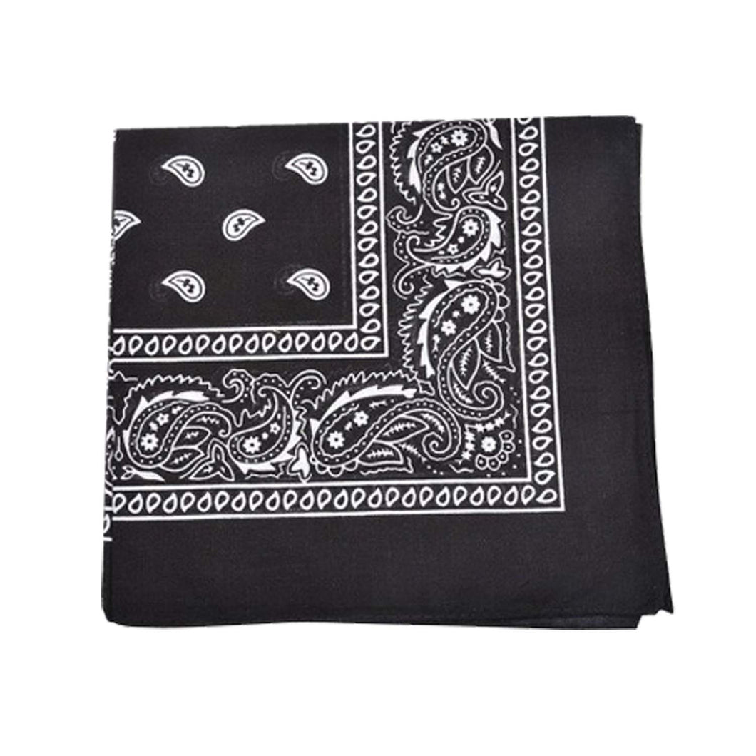 Mechaly Extra Large Quality Polyester Paisley Print Bandana 27 x 27 Inches