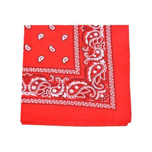 Load image into Gallery viewer, Mechaly Extra Large Quality Polyester Paisley Print Bandana 27 x 27 Inches  (Black)