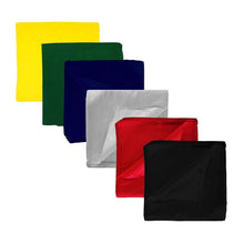 Load image into Gallery viewer, Set of 9 Solid 100% Polyester Unisex Bandanas