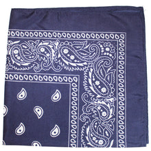 Load image into Gallery viewer, Pack of 50 Cotton 22 x 22 Inch Paisley Printed Bandana (Black)