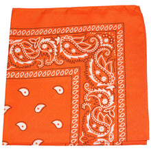 Load image into Gallery viewer, Paisley Cotton XL Bandana, head wrap, 27 inches - 24 Pack (Black)