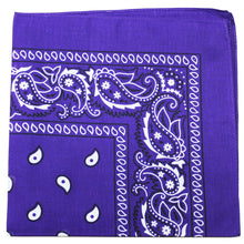 Load image into Gallery viewer, Mechaly Pack of 18 Cotton X-Large Paisley and Plain Printed Bandana (Paisley Black)