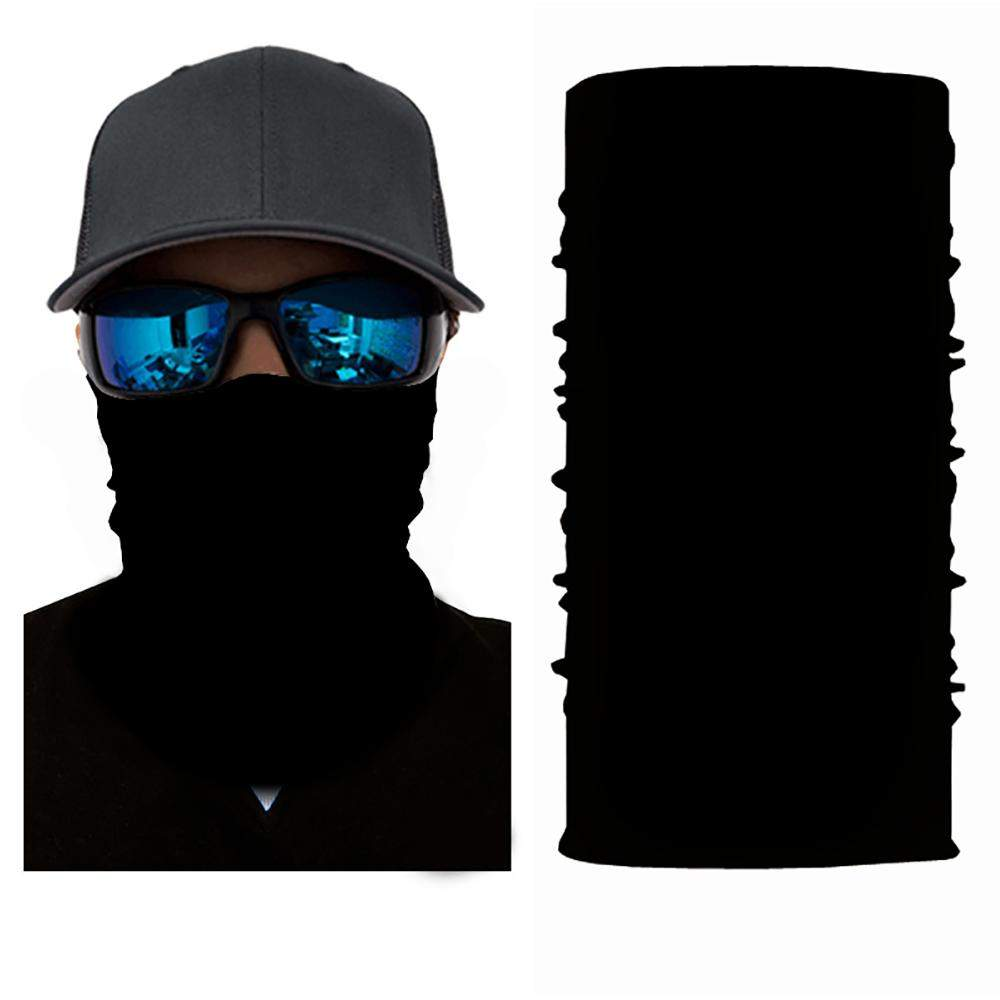 Pack of 10 Face Covering Mask Neck Gaiter Fishing and Hunting - Bulk Wholesale (Black)