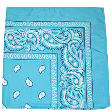 Load image into Gallery viewer, Pack of 36 Daily Basic 100% Cotton 22 x 22 Paisley Printed Bandana