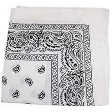 Load image into Gallery viewer, Mechaly Paisley 100% Cotton Bandanas - 3 Pack (3 Black)