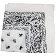Load image into Gallery viewer, Paisley Bandanas Head Wrap, Cotton Double Sided, 21 x 21 Inch (1 Pack, Black)