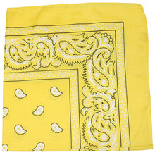 Load image into Gallery viewer, Pack of 6 Paisley Cotton Bandanas Novelty Headwraps - 22 inches (Black)
