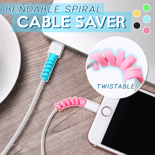 Bendable Spiral Cable Saver (10 PCS)