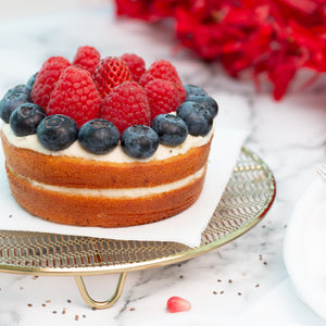 Load image into Gallery viewer, Keto Mixed Berries Cake (Cake for 2 people)