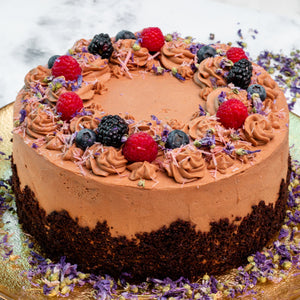Load image into Gallery viewer, Keto Dark Chocolate Cake